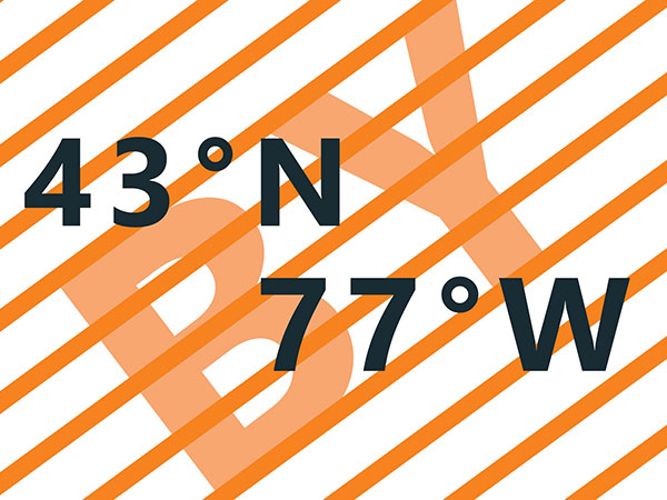 43ºN by 77°W/Current Seen