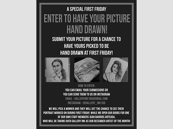 Enter to Have Your Portrait Drawn!