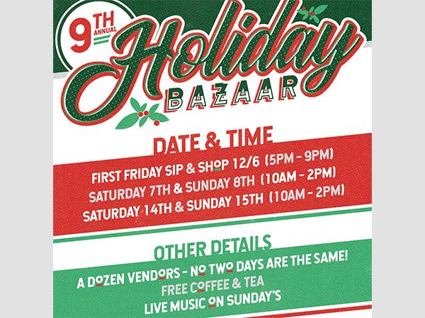 Holiday Bazaar Sip & Shop